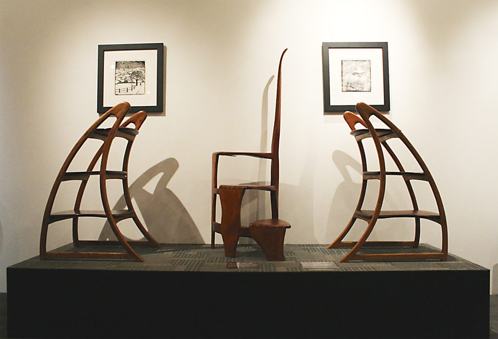 Spiral Library Ladder and Library Ladders by Wharton Esherick