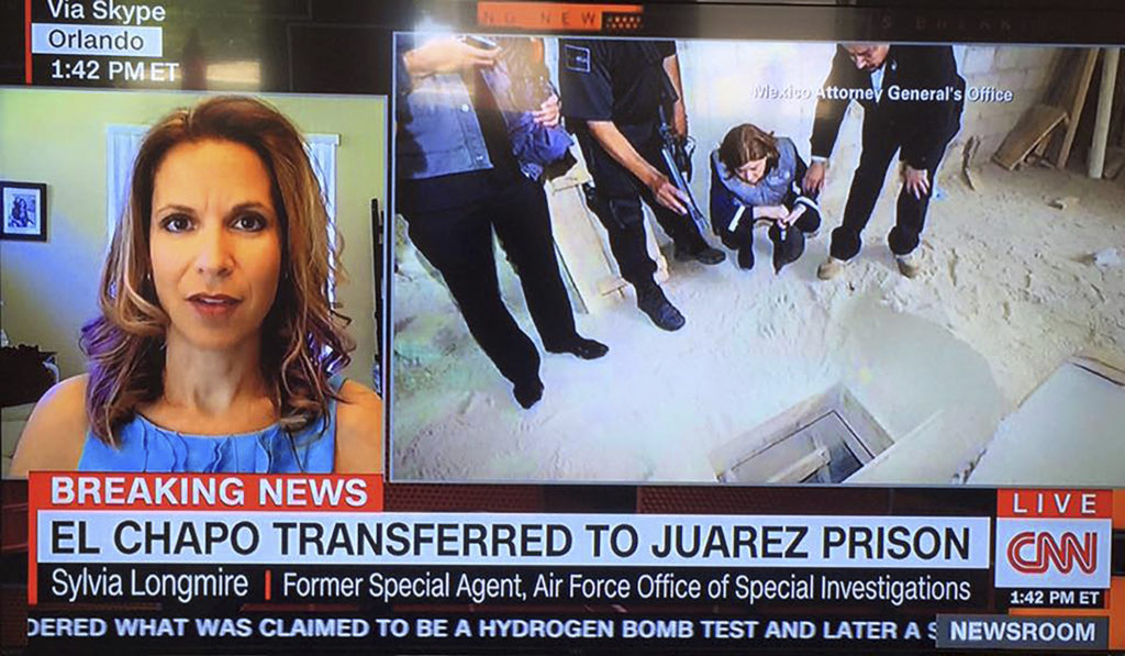 "January 9, 2016, Sylvia speaks to CNN about ""El Chapo"" Guzman"